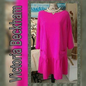 🛍WKND SALE🛍NWOT Victoria Beckham Hot Pink Dress
