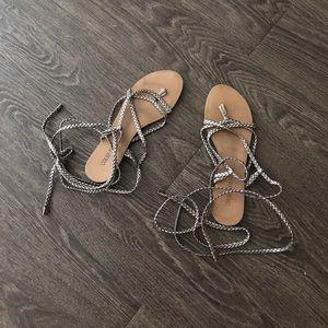 colin stuart wrap sandal-pewter