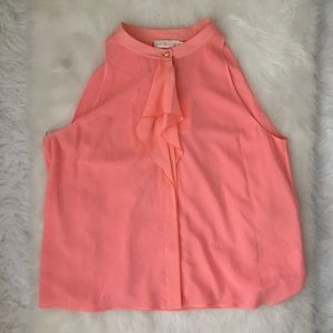 TORY BURCH Coral Chelsea Top Sleeveless Sz XL