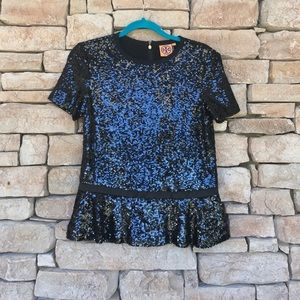 """NWT⚜️SOLD OUT TORY BURCH """"ERICA"""" SEQUIN TOP"""