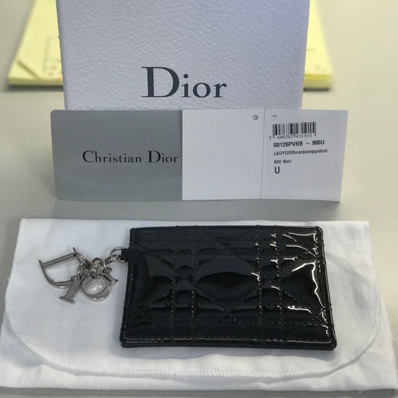25857c20eb86 Christian Dior Patent Leather Lady Dior Card Case