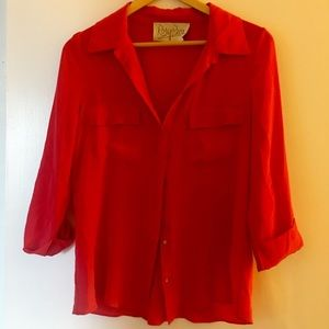 Rory Beca Silk size small button-down shirt