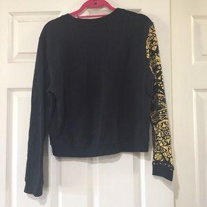 Tops - Black & Gold Elephant Sweatshirt