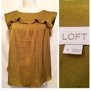 NWOT Blouse by Ann Taylor's Loft, Ruffle Blouse, M