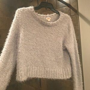 Tops - Fuzzy Grey Sweater