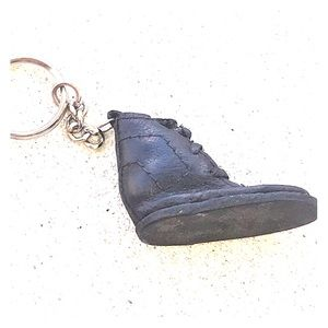 Vintage leather boot keychain