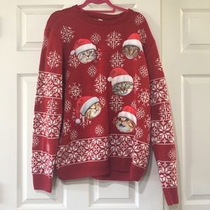 Sweaters - Tacky Cat Christmas Sweater