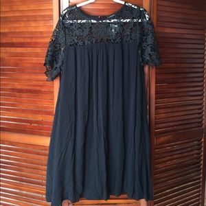 Black plus size short dress
