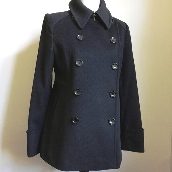 5b52995e1a Jackets   Blazers - Saks Fifth Avenue Black Peacoat Sz 8