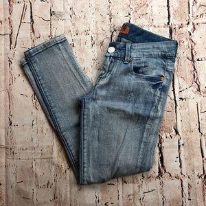 Seven7 Cropped Capris Jeans Light Wash Sz 25