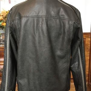 First Wave Jackets & Coats - First Wave  Boys Faux Leather Moto Jacket SZ 20