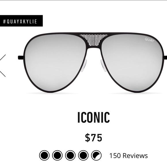 8e742794cc QUAYXKYLIE ICONIC sunglasses black frame