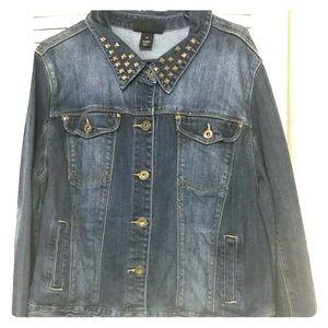 Lane Bryant Blue Jean Jacket NWOT