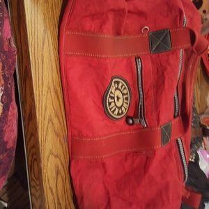 PRELOVED RED KIPLING DUFFLE BAG