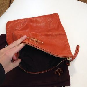 2a9a4b0463 Mulberry Bags - Authentic Mulberry orange leather clutch