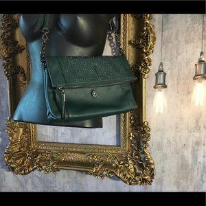 Simply Vera Green Studded Crossbody Handbag Purse