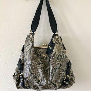 Emma Fox Dressage leather bag in snakeskin