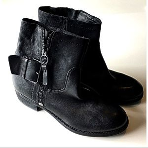 Sam Edelman Kacey Boot Black Leather Ankle Bootie