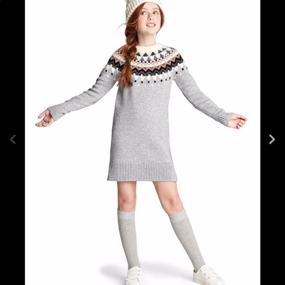53% off GAP Other - Gap Fair Isle Merino Girl's Sweater Dress Size ...