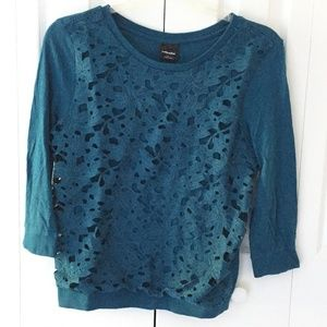 Womens teal floral top