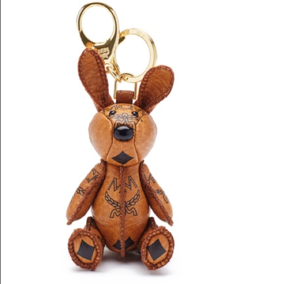 MCM Knight Rabbit Bag Charm
