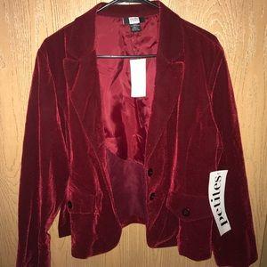 * NEVER BEEN WORN * Vintage red corduroy blazer