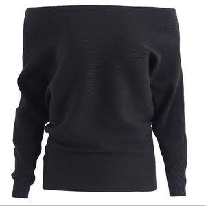ad79600eeb Sweaters -  Adelina  Off Shoulder Sweater