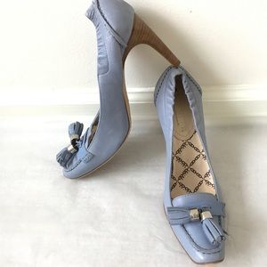Celine Blue Leather Pumps