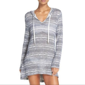 LA BLANCA Cover-Up Tunic top long sleeve Size S