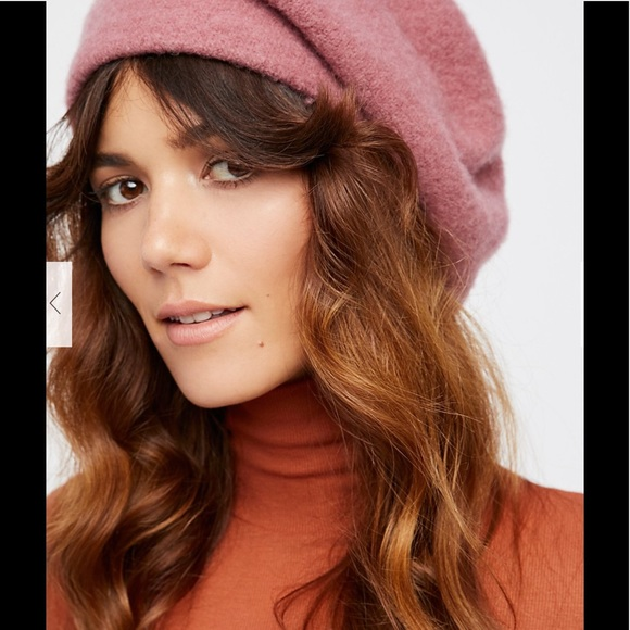 7fd5052882910 NWT Free People bisous slouchy beret dusty rose