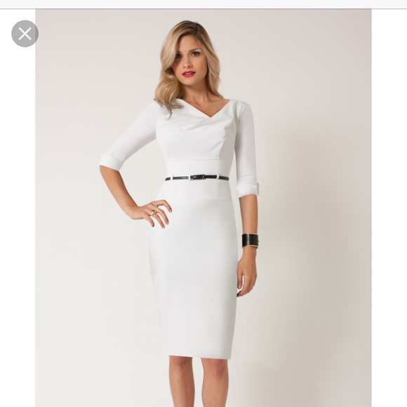 ff238b94341 Black Halo Dresses   Skirts - White Jackie O 3 4 sleeve dress from Black