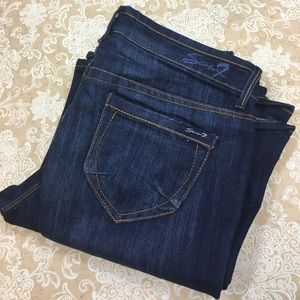 Seven7 Dark Blue Flare Jeans