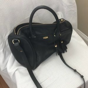 Black leather UGG satchel, only used once!
