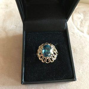 London Blue Topaz 10k Ring $ FIRM