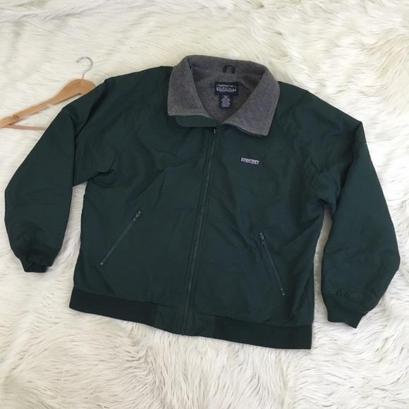dec0e528653a6 Lands End Men s Squall Jacket Green   Fleece Lined