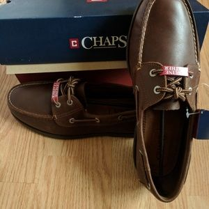 SALE!! NWT Chaps Leather Boat Shoe 10.5