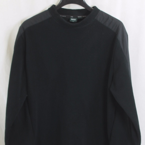 offer discounts utterly stylish good texture HUGO BOSS BLACK GOLF PULLOVER SWEATER LARGE