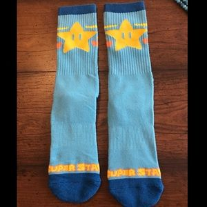 Blue Nintendo Mario Super Star Socks