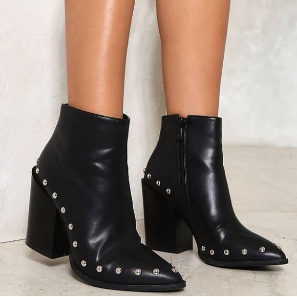 50320758ff36 Nasty Gal Shoes | Charlie Studded Bootie | Poshmark