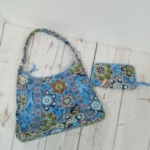 NWOT Vera Bradley Blue Print Handbag Set