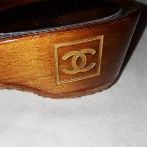 beb44e581291 CHANEL Shoes - 🎉SALE 🎉Authentic CHANEL wooden sandals size 35
