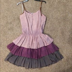Dress with a ruffled skirt