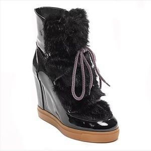 Tommy Hilfiger Shoes - Tommy Hilfiger patent wedge booties
