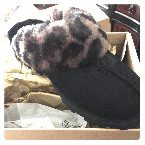 46ab4ce493a Ugg leopard coquette slipper size 7 NWT