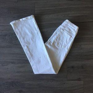White Denim Bell Bottom Jeans