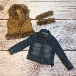 Other - Jean Jacket w/ Faux Fur Lining