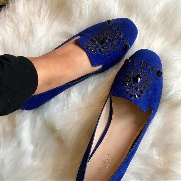 Kurt Geiger Shoes   Carvela Blue Suede