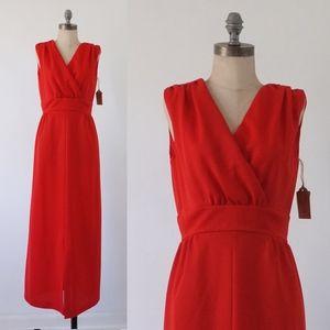 vintage red maxi dress   vintage 1960s red dress