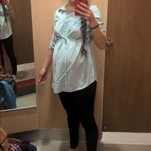 Liz Lange MATERNITY/NURSING Faux Jean Shirt