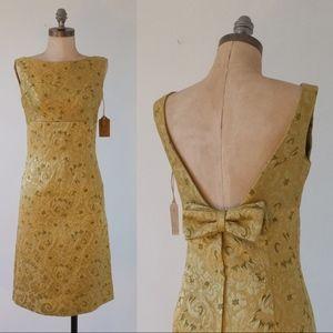 vintage 1950s gold dress   vintage baroque dress